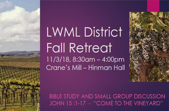 LWML Fall Retreat